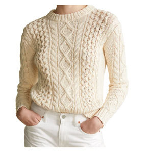 Tommy Hilfiger Cable Knit Sweater Wool Blend L